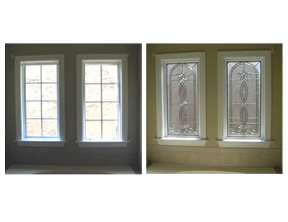 before after window hand beveled decorative door glass